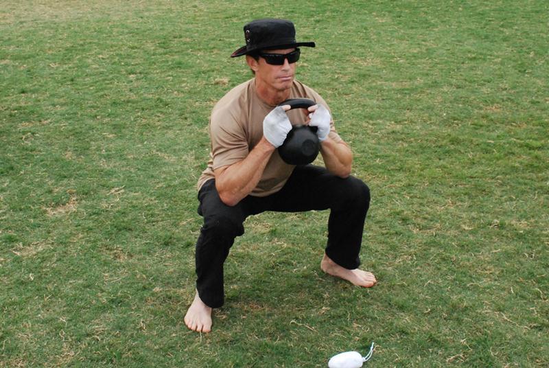 Tom Davin SanDiego RKC kettlebell goblet squat