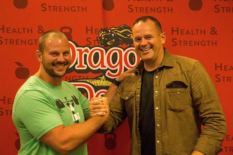 Zach Even-Esh and designer, Derek Brigham at 2015 Dragon Door Health and Strength Conference
