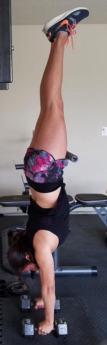 Marilyn Hoyt Handstand