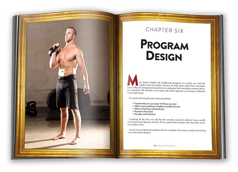 Inside pages of Master The Kettlebell: program design