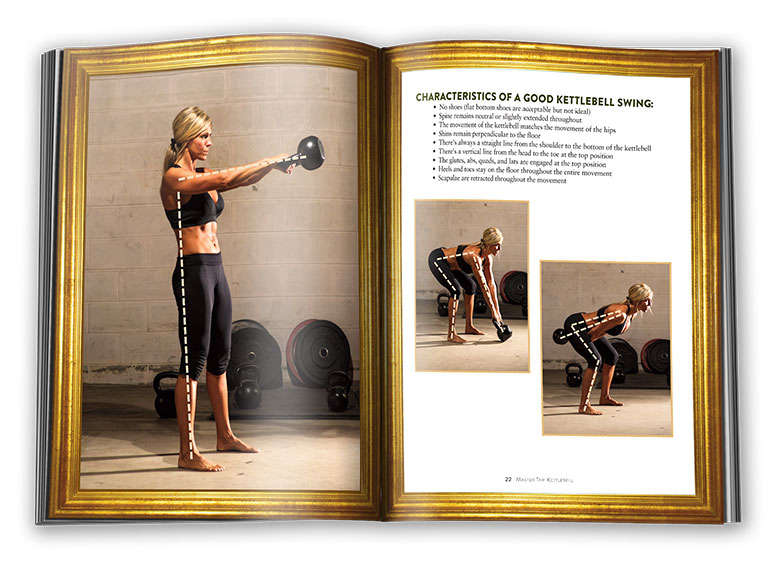 Inside pages of Master The Kettlebell: the kettlebell swing