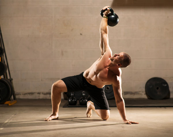 Master RKC Max Shank performs a kettlebell Get Up
