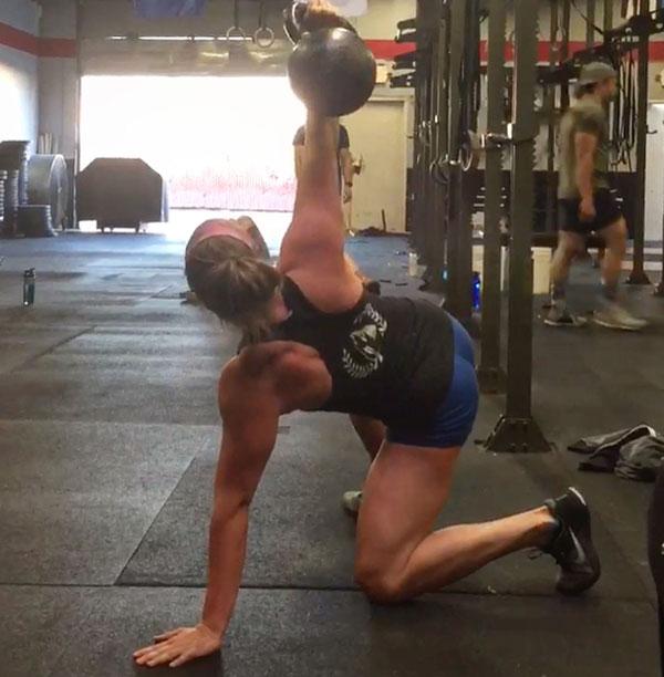 Natalie Talbert Kettlebell Get-up