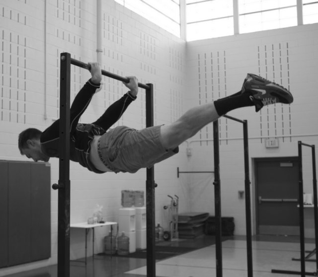 Nick Kenon Performs a Back Lever at the PCC