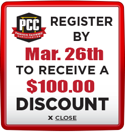 Receive $100 discount when you register by March 26th 2021
