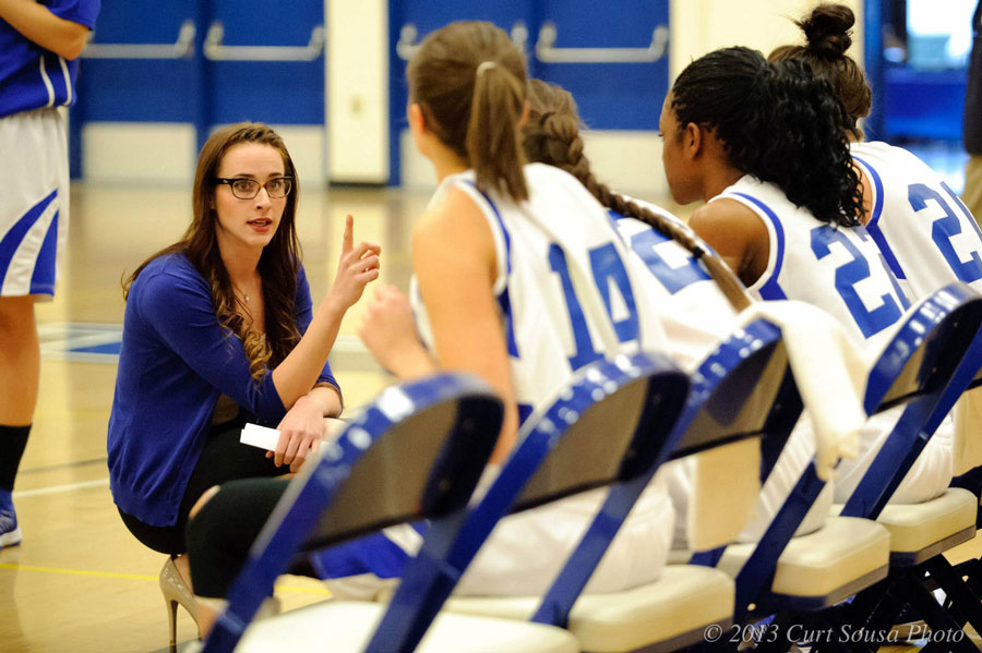 Paige Sousa Coaching Basketball