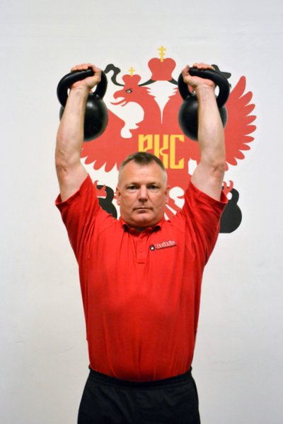 RKC Team Leader Paul Britt Overhead Double Press
