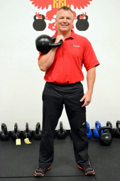 RKC Team Leader Paul Britt rack position Kettlebell