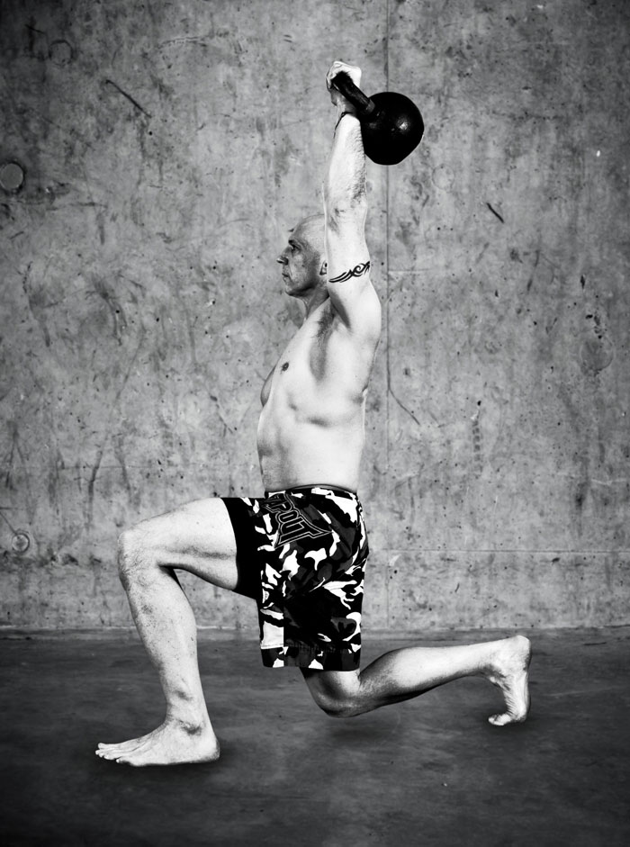 Phil Ross Half Kneeling Kettlebell Press