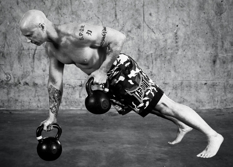 Phil Ross Kettlebell Plank Rows