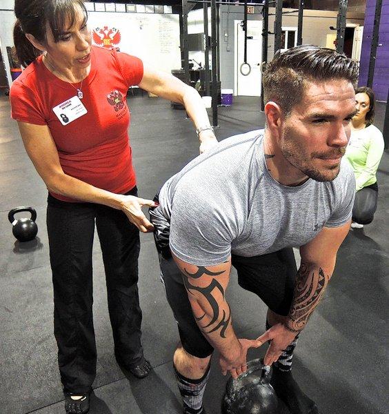 Master RKC Andrea Du Cane Coaching the Hip Hinge
