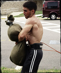 Sandbag Blitz Training