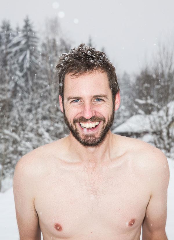 Scott Carney Shirtless In Snow