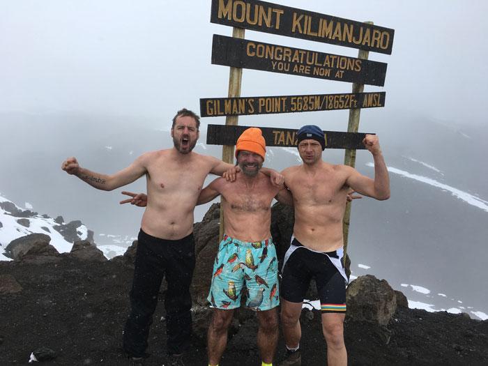 Scott Carney Wim Hof Dennis Bernaerts Gilman's Point Mt. Kilimanjaro