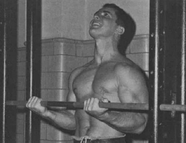 Isometric biceps training, circa 1964