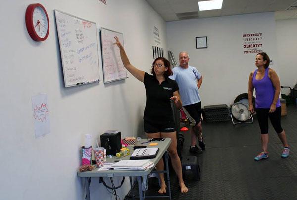 Stephanie Woods Explaining Workout