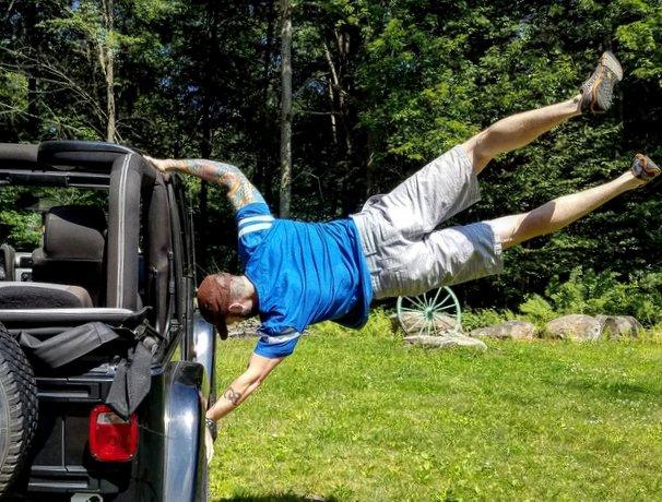 Steve Opalenik Jeep Human Flag