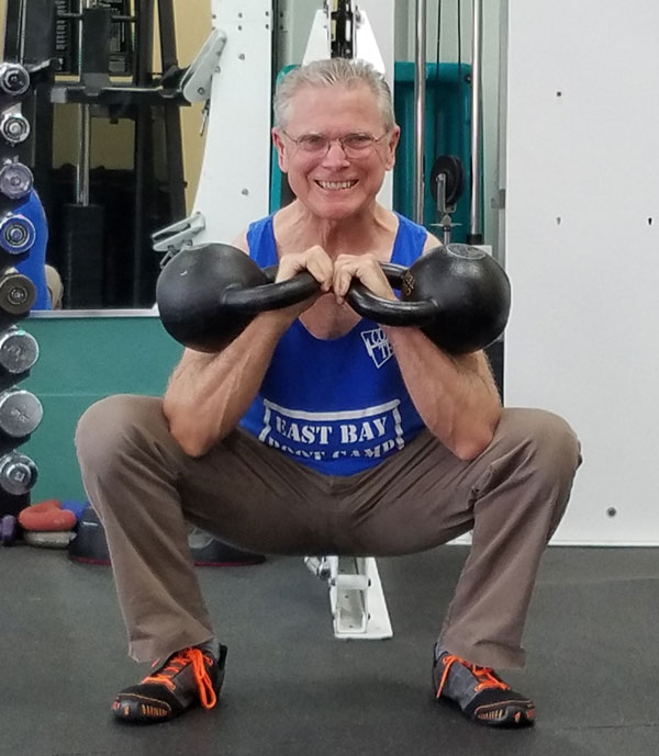 Terry Joel Double Kettlebell Front Squat