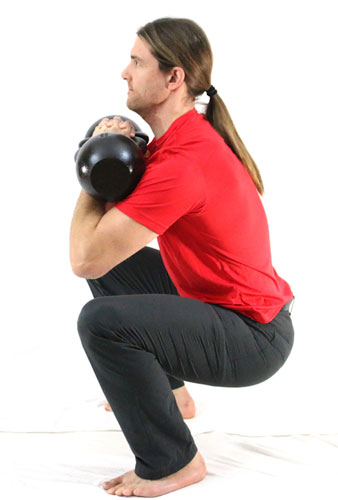 Tim Double Kettlebell Front Squat