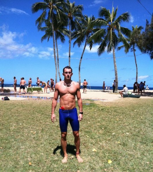 Triathlete Jeremy Devich On Beach