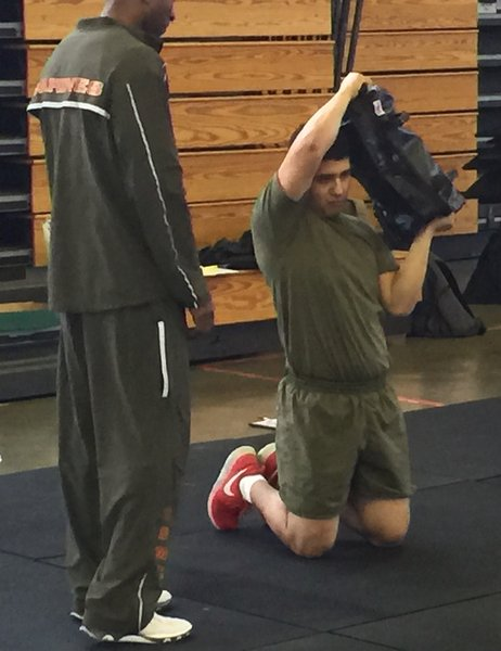 Ultimate Sandbag kneeling halo tactical fitness