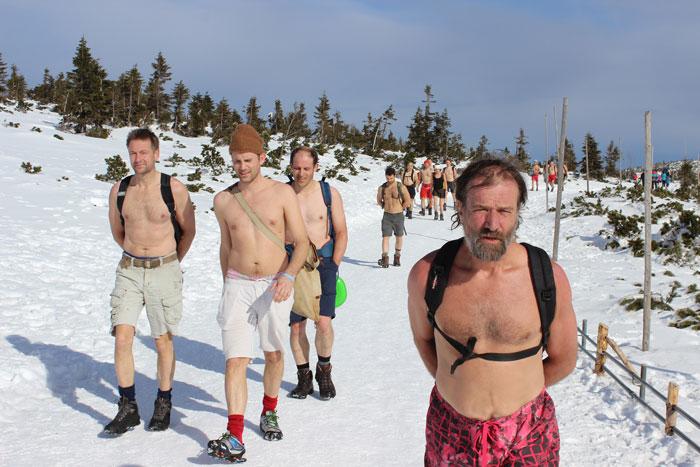 Wim Hof Group Snow Hike