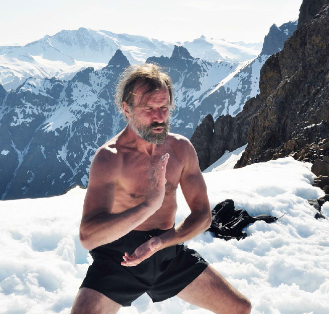 Wim Hof Tai Chi in snow