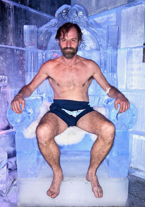 Wim Hof Ice Throne