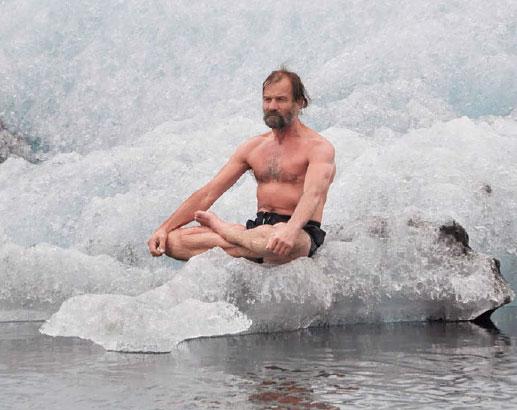 Wim Hof on Ice