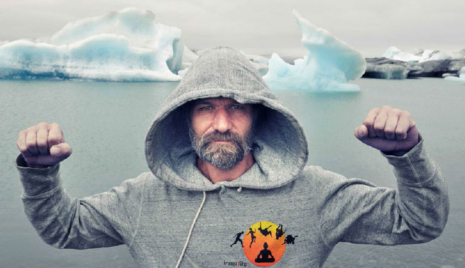 Wim Hof and Iceburgs