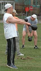 Chiropractor Glenn Hyman demonstrates Kettlebell Strength Training Form