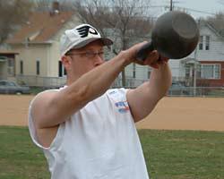Chiropractor Glenn Hyman demonstrates Kettlebell Strength Training Practice