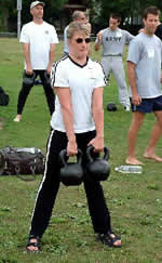 Kara Jones at the June 2003 Russian Kettlebell Challenge Workshop