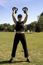 Susan Himsel tells how Kettlebells Help Women Get Stronger, More Flexible, Leaner and Better Conditioned