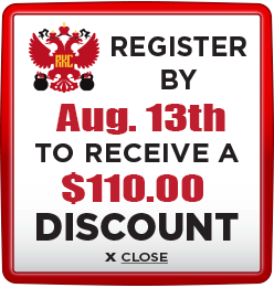 Receive $110 discount when you register by August 13th 2021