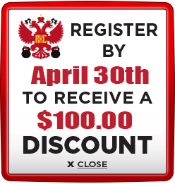 Receive $100 discount when you register by April 30th 2021