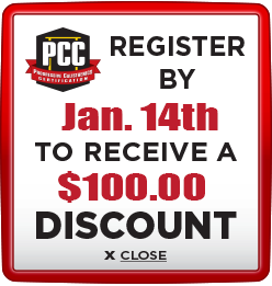 Receive $100 discount when you register by January 14th