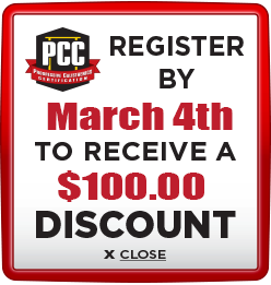 Receive $100 discount when you register by March 4th 2021