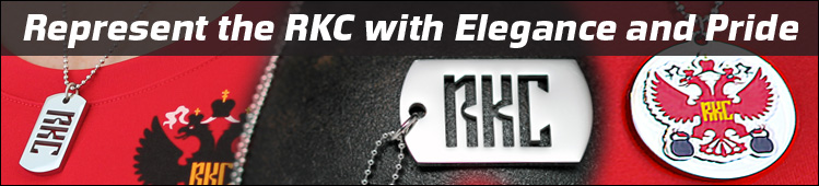 RKC Accessories - Dog Tags and Color Pendant - Represent with Pride and Elegance