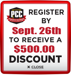 Receive $500 discount when you register by September 26th