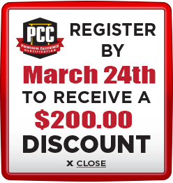 Receive $200 discount when you register by March 24th