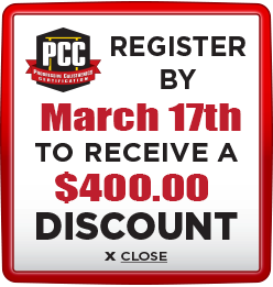 Receive $400 discount when you register by March 17th