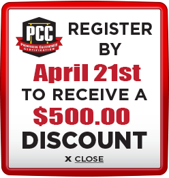 Receive $500 discount when you register by April 21st