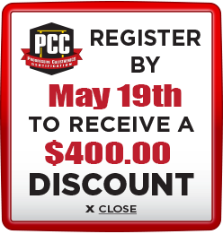 Receive $400 discount when you register by May 19th