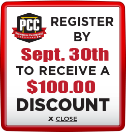Receive $100 discount when you register by September 30th