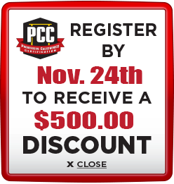 Receive $500 discount when you register by November 24th