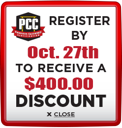 Receive $400 discount when you register by October 27th
