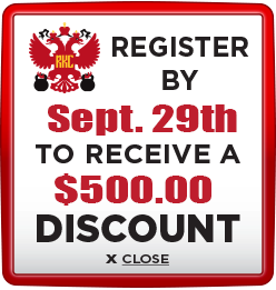 Receive $500 discount when you register by September 29th