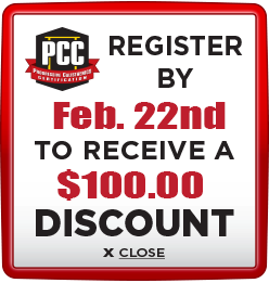 Receive $100 discount when you register by February 22nd