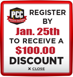 Receive $100 discount when you register by January 25th